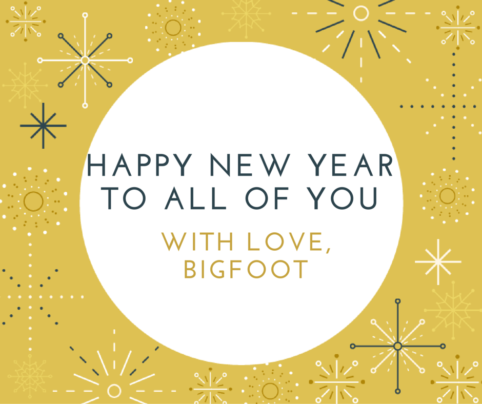 Happy New Year! Get involved! - Bigfoot