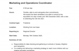 Marketing and Operations Coordinator Job Description and Personal Spec Bigfoot Arts Education South (002)_Page_1